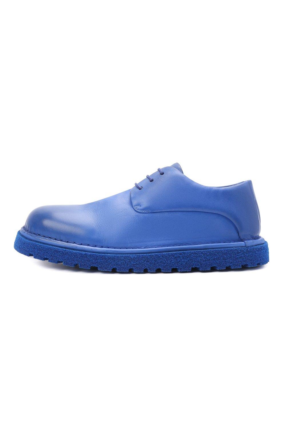 Мужские кожаные дерби MARSELL синего цвета, арт. MMG353P/PELLE V0L0NATA | Фото 3 (Материал внутренний: Натуральная кожа; Стили: Классический)