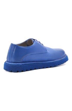 Мужские кожаные дерби MARSELL синего цвета, арт. MMG353P/PELLE V0L0NATA | Фото 4 (Материал внутренний: Натуральная кожа; Стили: Классический)