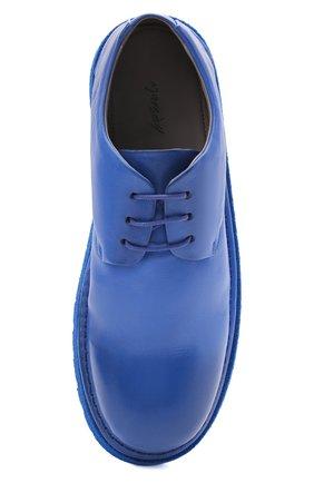 Мужские кожаные дерби MARSELL синего цвета, арт. MMG353P/PELLE V0L0NATA | Фото 5 (Материал внутренний: Натуральная кожа; Стили: Классический)