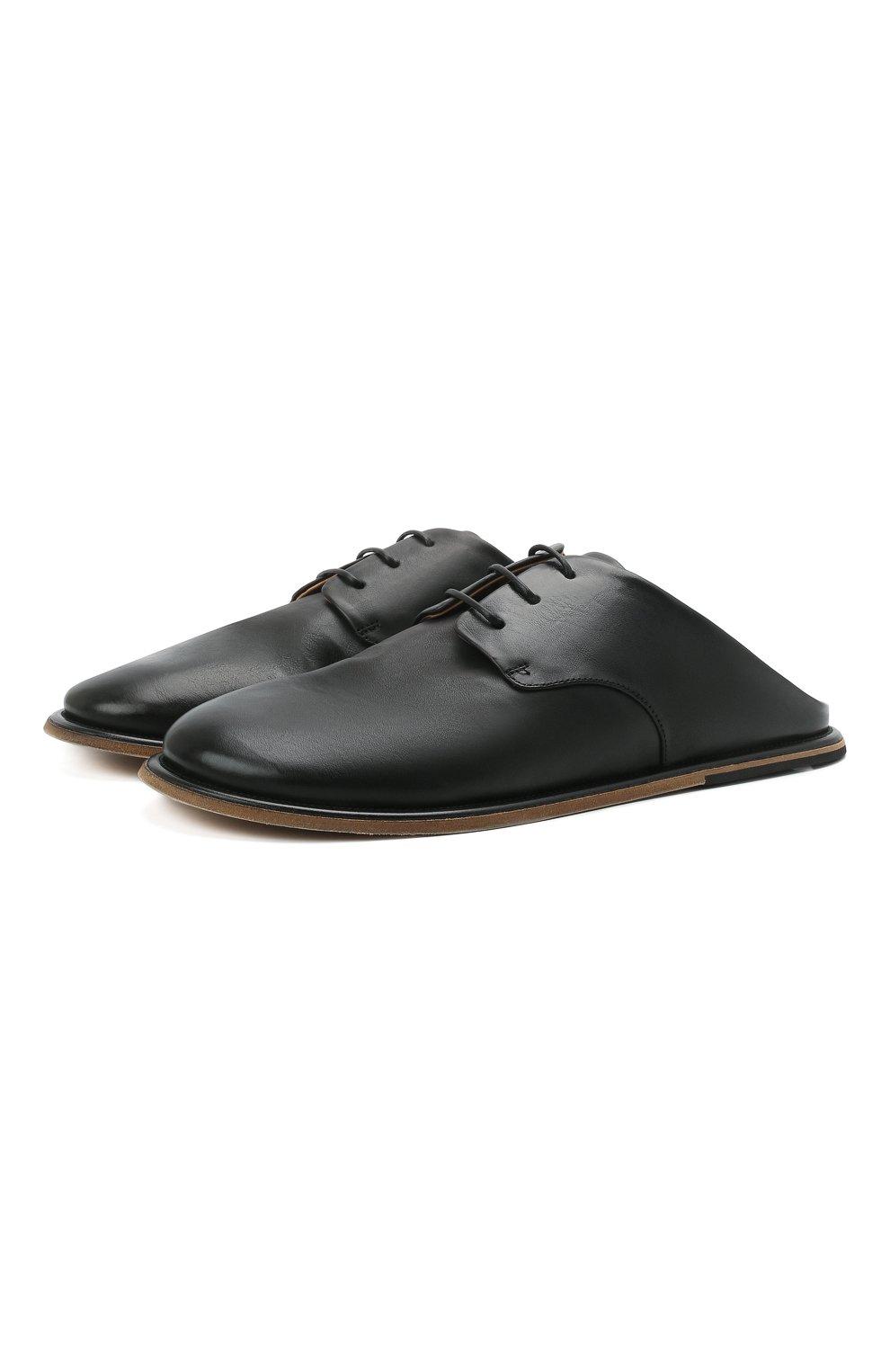 Мужские кожаные сабо MARSELL черного цвета, арт. MM4161/PELLE VITELL0 | Фото 1 (Материал внутренний: Натуральная кожа)