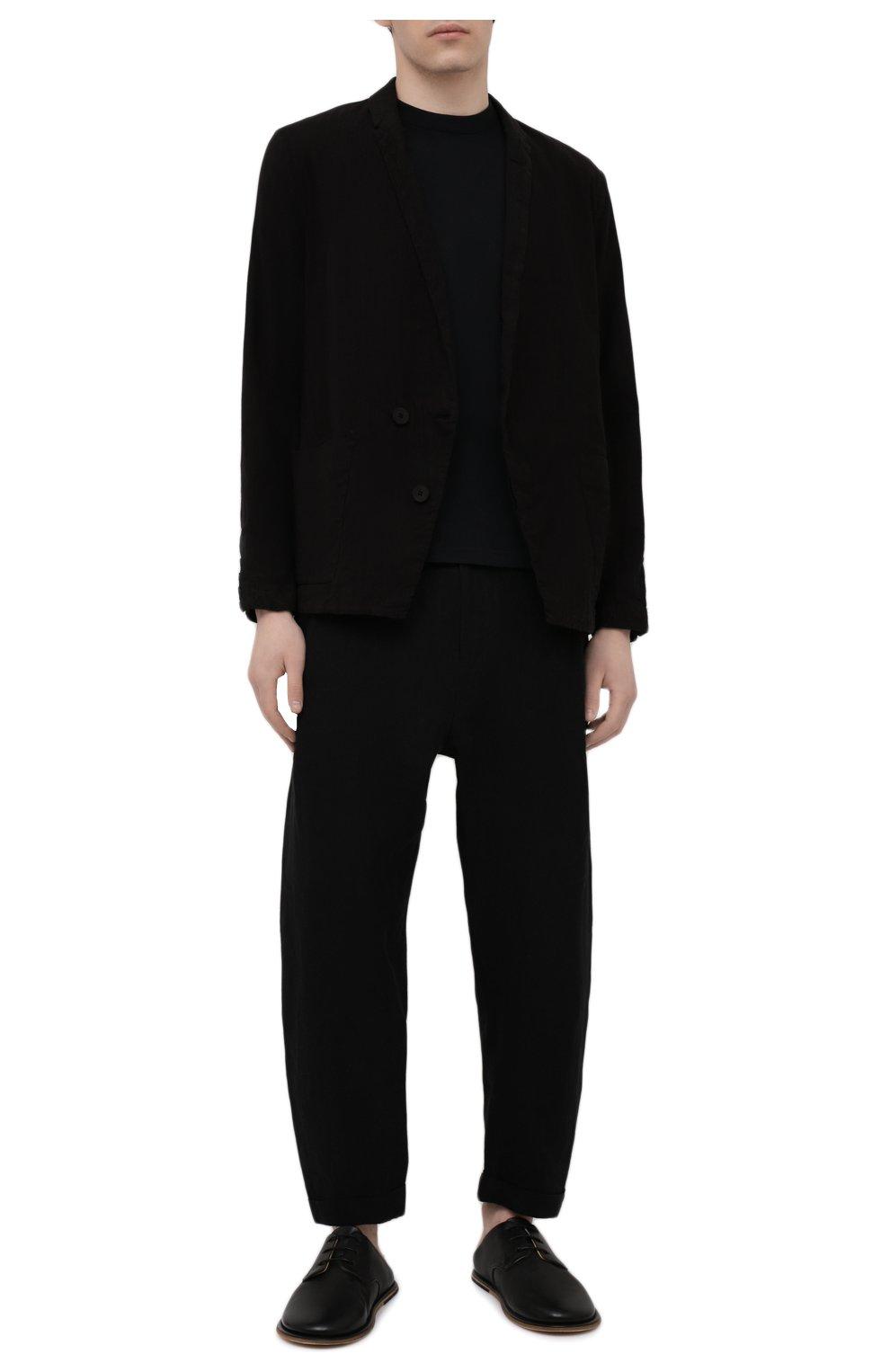 Мужские кожаные сабо MARSELL черного цвета, арт. MM4161/PELLE VITELL0 | Фото 2 (Материал внутренний: Натуральная кожа)