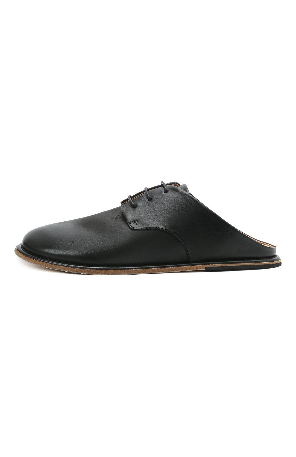 Мужские кожаные сабо MARSELL черного цвета, арт. MM4161/PELLE VITELL0 | Фото 3 (Материал внутренний: Натуральная кожа)