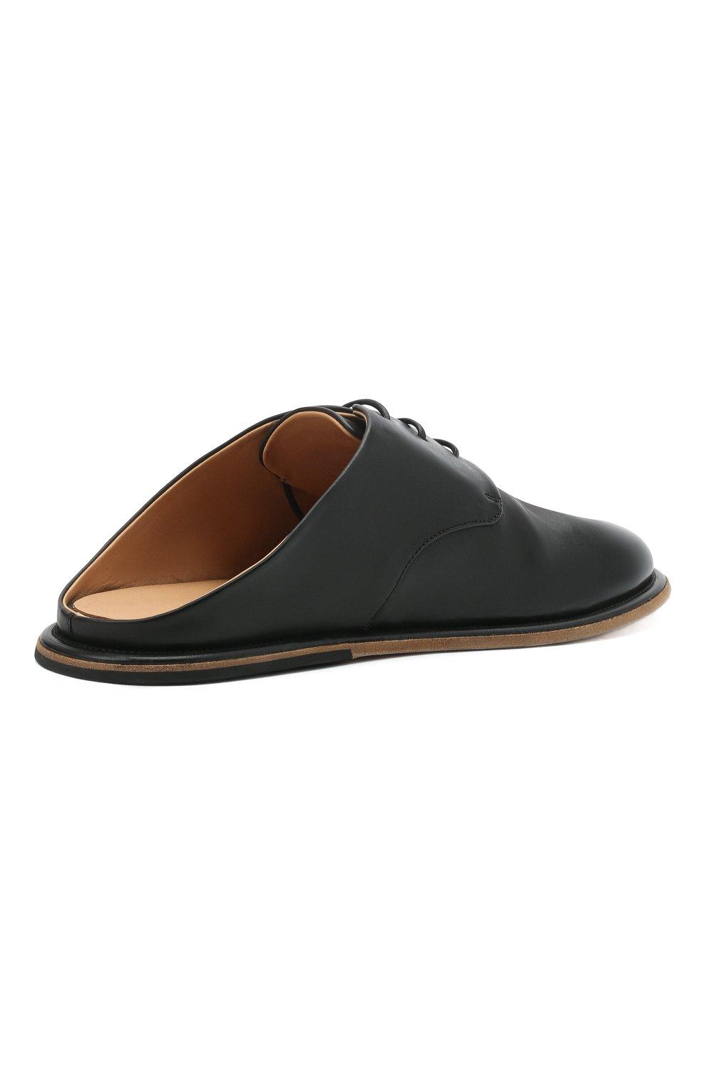 Мужские кожаные сабо MARSELL черного цвета, арт. MM4161/PELLE VITELL0 | Фото 4 (Материал внутренний: Натуральная кожа)
