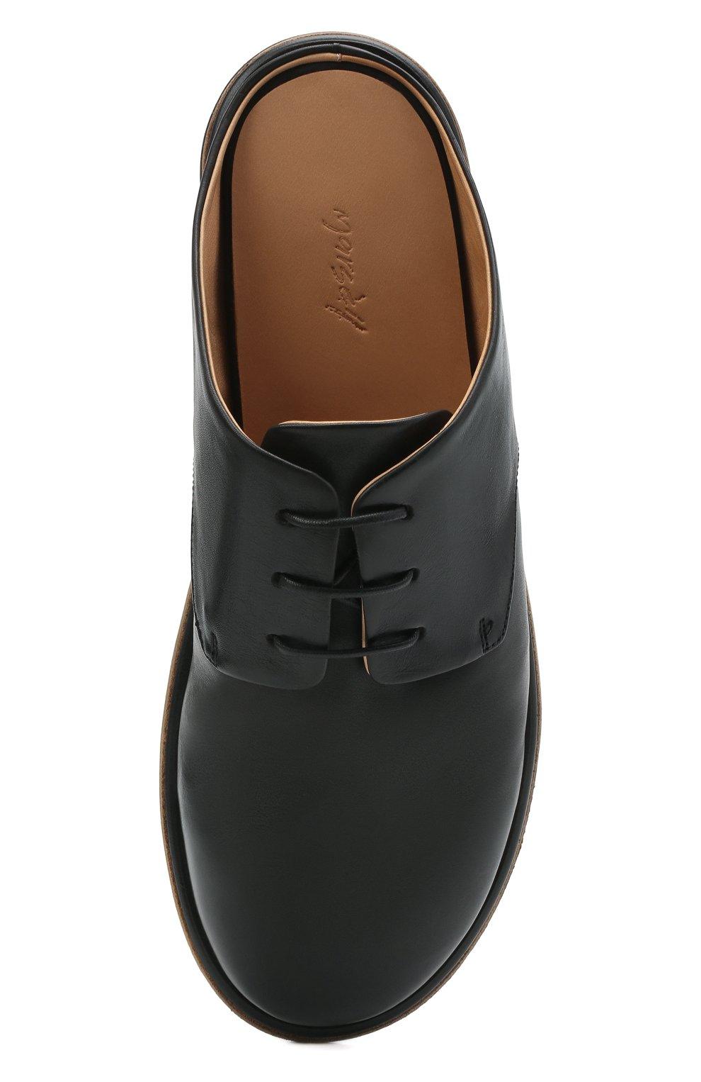 Мужские кожаные сабо MARSELL черного цвета, арт. MM4161/PELLE VITELL0 | Фото 5 (Материал внутренний: Натуральная кожа)