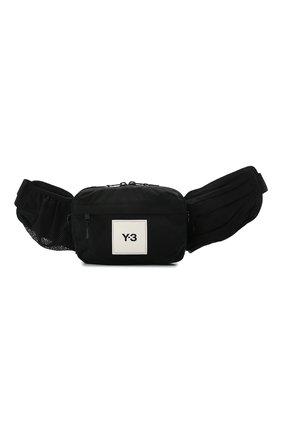 Мужская текстильная поясная сумка Y-3 черного цвета, арт. GT8920/M | Фото 1
