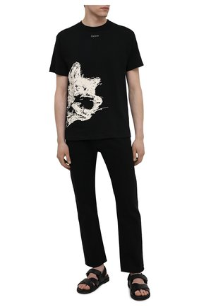 Мужская хлопковая футболка YOHJI YAMAMOTO черного цвета, арт. HD-T96-082 | Фото 2