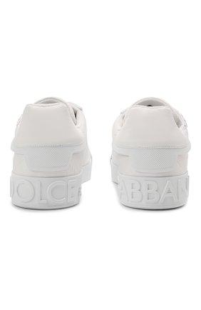 Мужские комбинированные кеды portofino DOLCE & GABBANA белого цвета, арт. CS1865/A0217   Фото 6