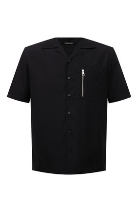 Мужская хлопковая рубашка NEIL BARRETT черного цвета, арт. PBCM1469V/Q012S | Фото 1
