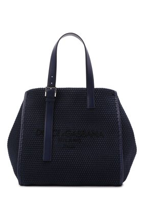 Мужская текстильная сумка-шопер DOLCE & GABBANA темно-синего цвета, арт. BM1834/A0307 | Фото 1