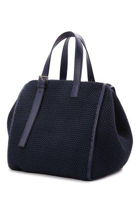 Мужская текстильная сумка-шопер DOLCE & GABBANA темно-синего цвета, арт. BM1834/A0307   Фото 3 (Материал: Текстиль)