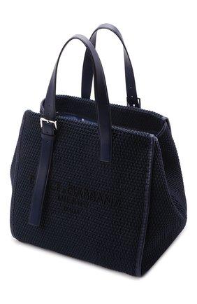 Мужская текстильная сумка-шопер DOLCE & GABBANA темно-синего цвета, арт. BM1834/A0307   Фото 4 (Материал: Текстиль)