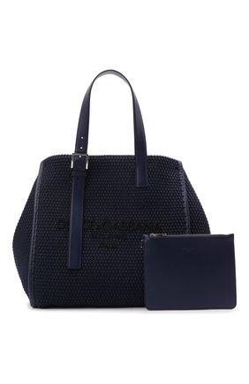 Мужская текстильная сумка-шопер DOLCE & GABBANA темно-синего цвета, арт. BM1834/A0307   Фото 5 (Материал: Текстиль)
