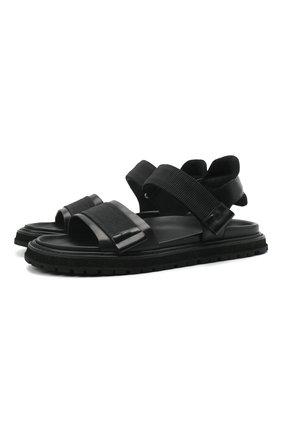 Мужские комбинированные сандалии PREMIATA черного цвета, арт. 31865/LISCI0 | Фото 1