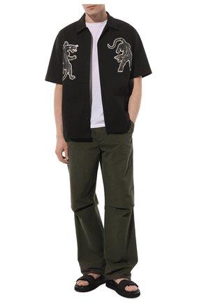 Мужские комбинированные сандалии PREMIATA черного цвета, арт. 31865/LISCI0 | Фото 2