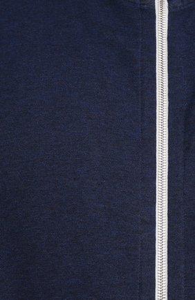 Мужской хлопковая толстовка CORTIGIANI темно-синего цвета, арт. 114613/0000/60-70 | Фото 5 (Big sizes: Big Sizes; Рукава: Длинные; Мужское Кросс-КТ: Толстовка-одежда; Длина (для топов): Стандартные; Материал внешний: Хлопок; Стили: Спорт-шик)