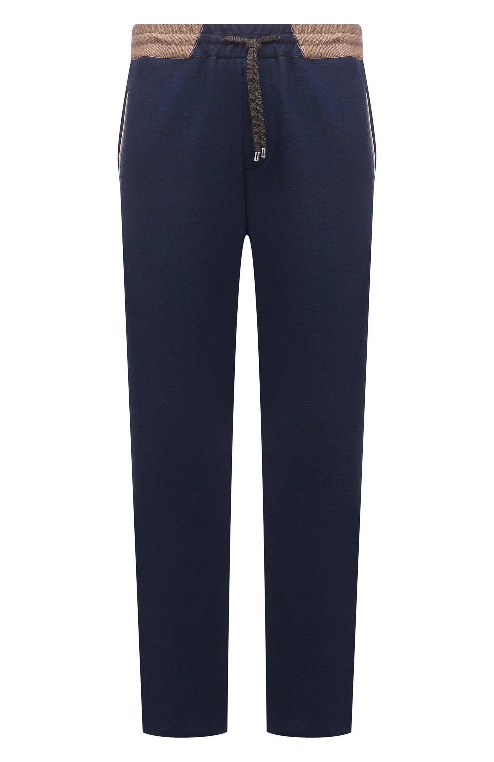 Мужские хлопковые брюки CORTIGIANI синего цвета, арт. 114612/0000/60-70 | Фото 1 (Big sizes: Big Sizes; Длина (брюки, джинсы): Стандартные; Кросс-КТ: Спорт; Материал внешний: Хлопок; Стили: Спорт-шик)