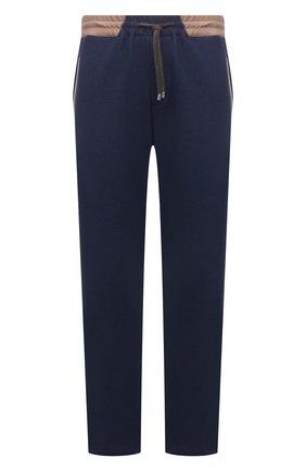 Мужские хлопковые брюки CORTIGIANI синего цвета, арт. 114612/0000/60-70 | Фото 1