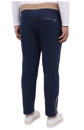 Мужские хлопковые брюки CORTIGIANI синего цвета, арт. 114612/0000/60-70 | Фото 4 (Big sizes: Big Sizes; Длина (брюки, джинсы): Стандартные; Кросс-КТ: Спорт; Материал внешний: Хлопок; Стили: Спорт-шик)
