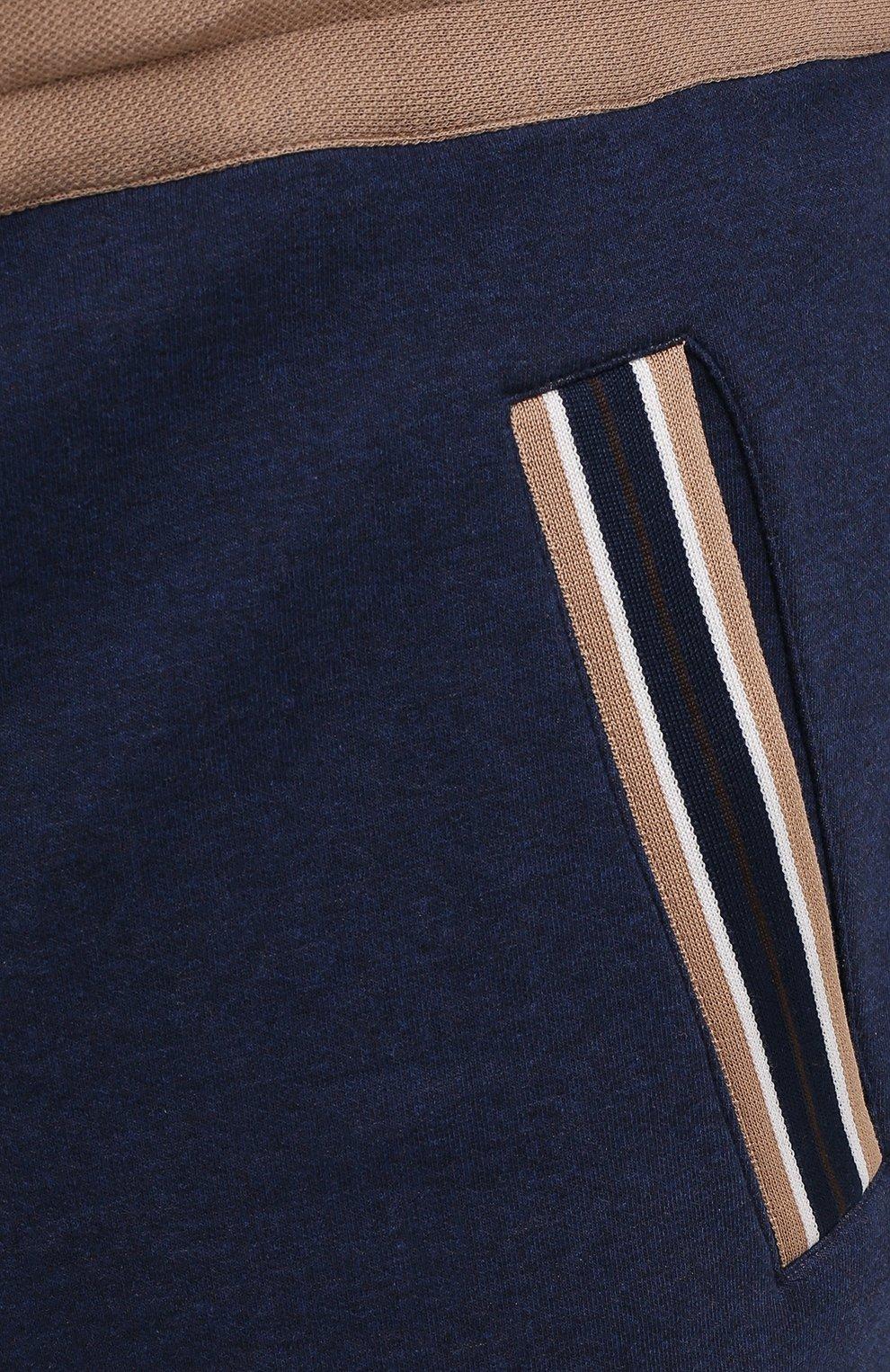 Мужские хлопковые брюки CORTIGIANI синего цвета, арт. 114612/0000/60-70 | Фото 5 (Big sizes: Big Sizes; Длина (брюки, джинсы): Стандартные; Кросс-КТ: Спорт; Материал внешний: Хлопок; Стили: Спорт-шик)