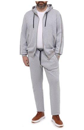 Мужские хлопковые брюки CORTIGIANI серого цвета, арт. 114612/0000/60-70 | Фото 2