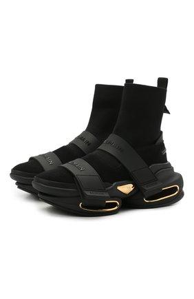 Мужские комбинированные кроссовки b-bold BALMAIN черного цвета, арт. VM0VH229/TKSE | Фото 1