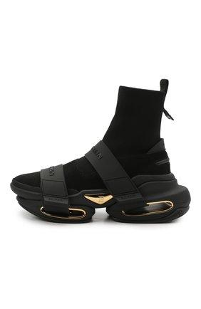 Мужские комбинированные кроссовки b-bold BALMAIN черного цвета, арт. VM0VH229/TKSE | Фото 2