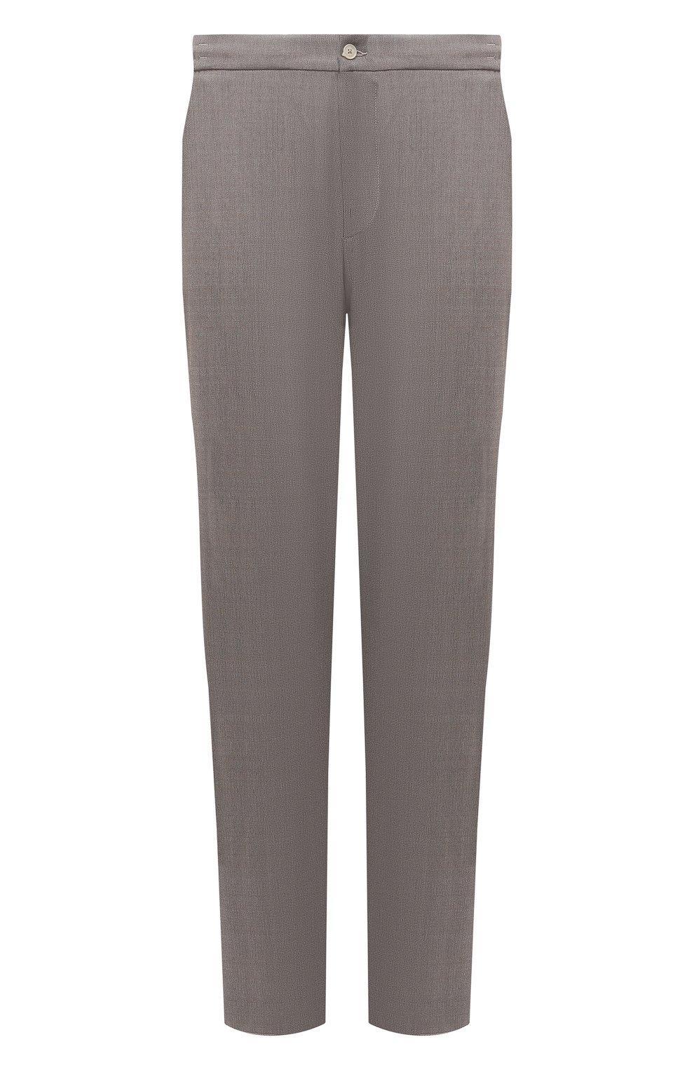 Мужские шерстяные брюки MARCO PESCAROLO бежевого цвета, арт. CHIAIAM/4328 | Фото 1 (Big sizes: Big Sizes; Материал внешний: Шерсть; Длина (брюки, джинсы): Стандартные; Случай: Повседневный; Стили: Кэжуэл)