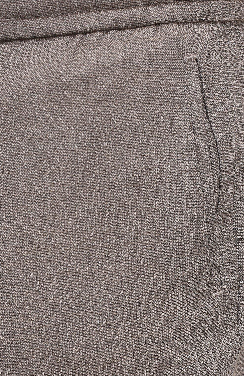 Мужские шерстяные брюки MARCO PESCAROLO бежевого цвета, арт. CHIAIAM/4328 | Фото 5 (Big sizes: Big Sizes; Материал внешний: Шерсть; Длина (брюки, джинсы): Стандартные; Случай: Повседневный; Стили: Кэжуэл)