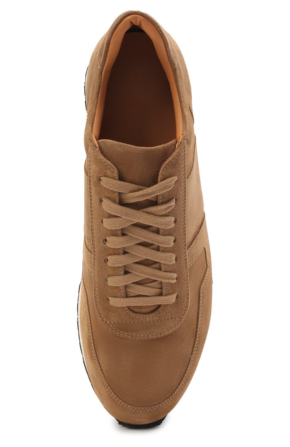 Мужские замшевые кроссовки RALPH LAUREN бежевого цвета, арт. 815829397 | Фото 5