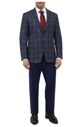 Мужские шерстяные брюки CANALI синего цвета, арт. 71012/AS10315 | Фото 2