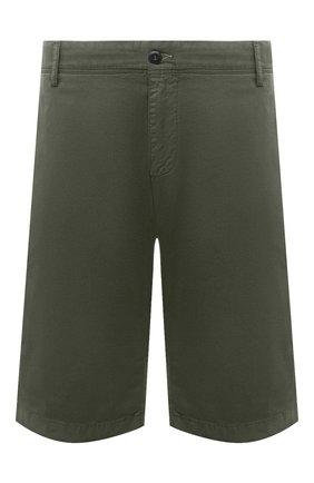 Мужские хлопковые шорты PAUL&SHARK хаки цвета, арт. 21414003/E7A/62-64 | Фото 1