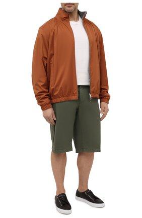 Мужские хлопковые шорты PAUL&SHARK хаки цвета, арт. 21414003/E7A/62-64 | Фото 2