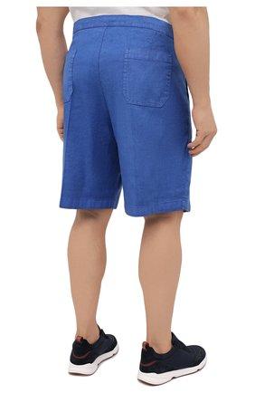 Мужские шорты изо льна и хлопка MARCO PESCAROLO синего цвета, арт. PIEDIGR0TT/4307 | Фото 4 (Big sizes: Big Sizes; Мужское Кросс-КТ: Шорты-одежда; Принт: Без принта; Длина Шорты М: Ниже колена; Материал внешний: Хлопок, Лен; Стили: Кэжуэл)