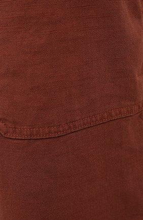 Мужские шорты изо льна и хлопка MARCO PESCAROLO коричневого цвета, арт. PIEDIGR0TT/4307   Фото 5 (Big sizes: Big Sizes; Мужское Кросс-КТ: Шорты-одежда; Принт: Без принта; Длина Шорты М: Ниже колена; Материал внешний: Хлопок, Лен; Стили: Кэжуэл)