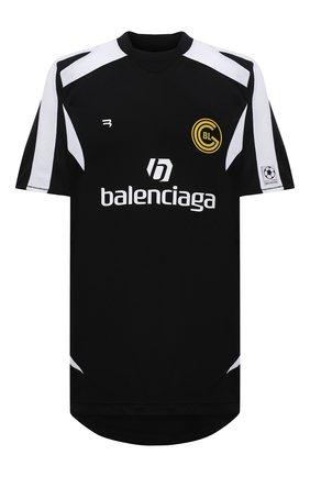 Мужская футболка BALENCIAGA черного цвета, арт. 641665/TJV05 | Фото 1