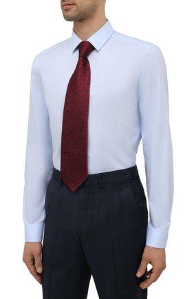 Мужская хлопковая сорочка BOSS голубого цвета, арт. 50452198   Фото 4