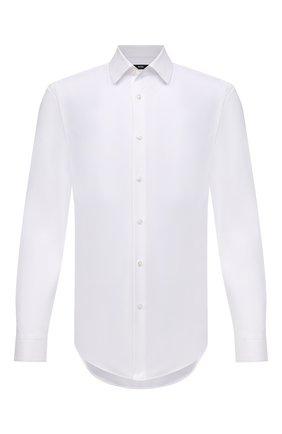 Мужская хлопковая сорочка BOSS белого цвета, арт. 50451299 | Фото 1