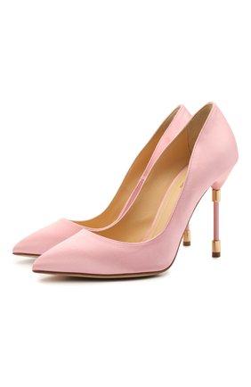 Женские текстильные туфли RUBEUS MILANO розового цвета, арт. RU21 | Фото 1