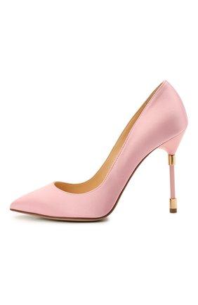 Женские текстильные туфли RUBEUS MILANO розового цвета, арт. RU21 | Фото 2