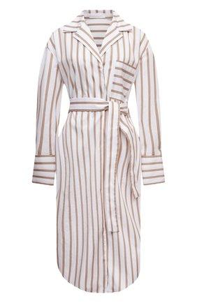 Женское шелковое платье BOSS бежевого цвета, арт. 50447726   Фото 1