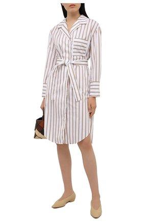 Женское шелковое платье BOSS бежевого цвета, арт. 50447726   Фото 2