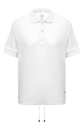 Женское хлопковое поло BOGNER белого цвета, арт. 56564411   Фото 1