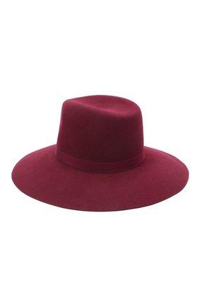 Женская шляпа fedora COCOSHNICK HEADDRESS бордового цвета, арт. fedoranews-10 | Фото 2 (Материал: Текстиль)