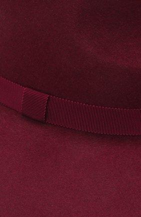 Женская шляпа fedora COCOSHNICK HEADDRESS бордового цвета, арт. fedoranews-10 | Фото 3 (Материал: Текстиль)