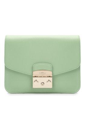 Женская сумка metropolis small FURLA зеленого цвета, арт. WB00244/ARE000   Фото 1