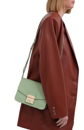 Женская сумка metropolis small FURLA зеленого цвета, арт. WB00244/ARE000   Фото 2