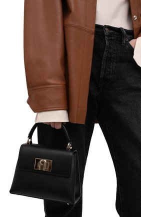 Женская сумка furla 1927 mini FURLA черного цвета, арт. WB00109/ARE000   Фото 2