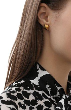 Женские серьги valentino garavani rockstud VALENTINO золотого цвета, арт. VW0J0G35/MET | Фото 2
