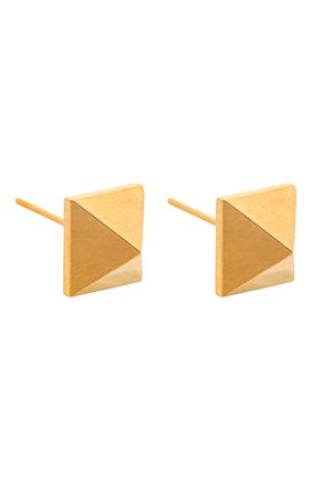 Женские серьги valentino garavani rockstud VALENTINO золотого цвета, арт. VW0J0G35/MET | Фото 3