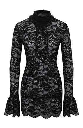 Женская блузка PACO RABANNE черного цвета, арт. 20HJT0272PA0170 | Фото 1